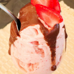 vegan chocolate strawberry ice cream