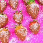 vegan chocolate covered strawberries, low-fat, oil-free