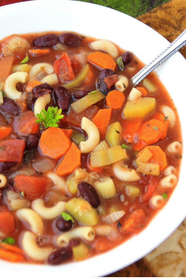 Vegan Minestrone: Gluten-Free, SOS-Free
