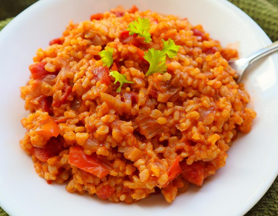 Vegan Spanish Rice: SOS-Free. Gluten Free (Instant Pot)