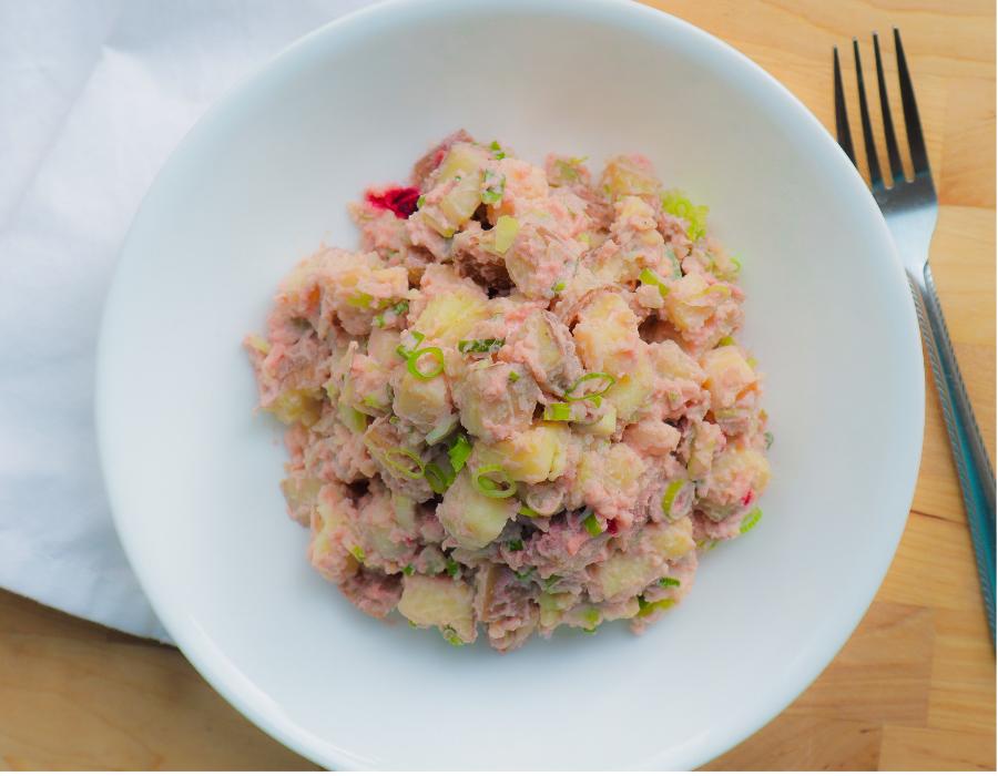 Pink Vegan Potato Salad: SOS-Free