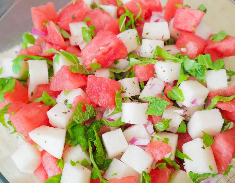 Watermelon and Jicama Salad